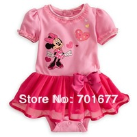 2013 new arrival minnie heart pattern short-sleeved yarn skirt rompers bodysuit clothes baby jumpsuit 6#13051103