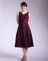 Purple personality evening dress