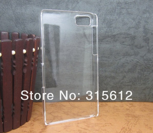 Free EMS DHL UPS fast Shipping, Plastic clear crystal transparent back cover case 2000pcs/lot for Blackberry Z10 C45(China (Mainland))