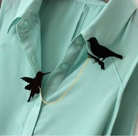 CCH014   3 New Arrival Fashion Brooches Black Squirrel & Bird & Cat And Butterfly Brooch Pins