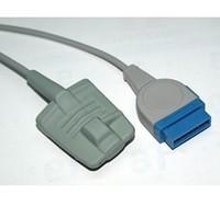 5pcs/lot High quality&brand new Ge-Marquette Adult Silicone Soft Tip Spo2 Sensor, L=3m reusable spo2 sensor,medical cable