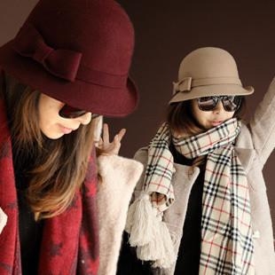 YBB B172 choke a small chilli wool hat autumn and winter dome jazz hat Korean version of Women's hat