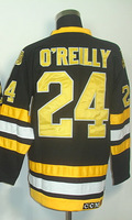 #24 Terry O'Reilly Men's Classic Vintage Home Black Throwback Hockey Jersey
