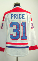 #31 Carey Price Men's Authentic Road White Hockey Jersey