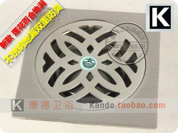 Thickening 3mm stainless steel floor drain seesaw anti-odor floor drain core double anti-odor