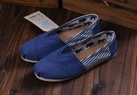 Free Shipping Hot Sale Latest New Low Carbon Unisex Fashion Leisure Flat Shoes Footwear Stripe Design Canvas Shoes With Packing