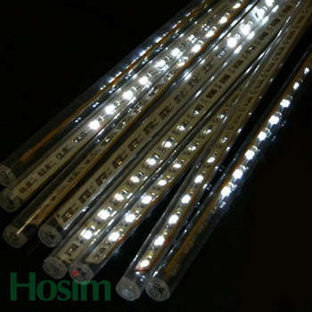 80CM, 72 LEDs & free shipping, 5pcs/set, christmas lighting, LED Snow fall tube snowingled meteor light led raining tube