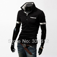 Free Shipping Men's Shirt Casual Slim Fit Stylish Short-Sleeve Shirts Cotton Men's T-shirt