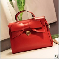 Sweet red butterfly women leather handbags 2013 new female messenger bag Mobile women handbag