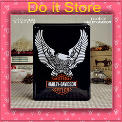 [ Do it ] Harley davidson Eagle Retro Iron painting Cafe Vintage Motor logo Metal painting 20*30 CM Free shipping(China (Mainland))