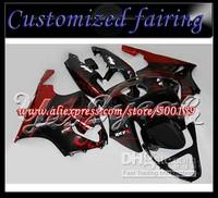 Customized fairing -For Kawasaki ZX-7R Ninja Ninja ZX 7R 1996 - 2003 ZX7R Red Flames ABS Fairing Set 76W02