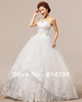 Free     shipping    The new 2013 lace strapless han edition with the princess wedding dress. HS237