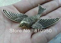 15pcs 31x76mm  Metal / Alloy Antique Bronze Bird Pattern Jewelry Vintage Charms Jewelry Findings Fit Diy Jewelry Accessories