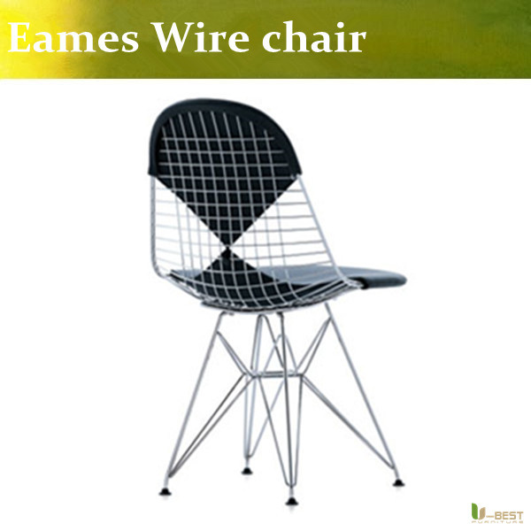 Wire Eiffel Chair Bertoia , Bertoia Wire side chair ,Eames lounge chair ,replica Bertoia dining chair cushion in many colors(China (Mainland))