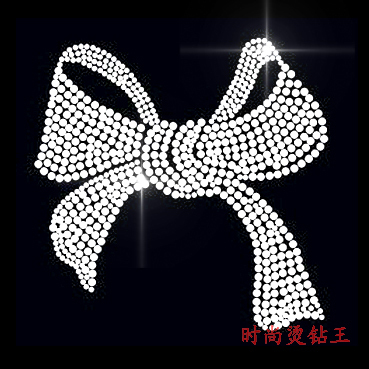 Accessories hotfix motif rhinestone stickers bling white big bow rhinestones finished product t189(China (Mainland))