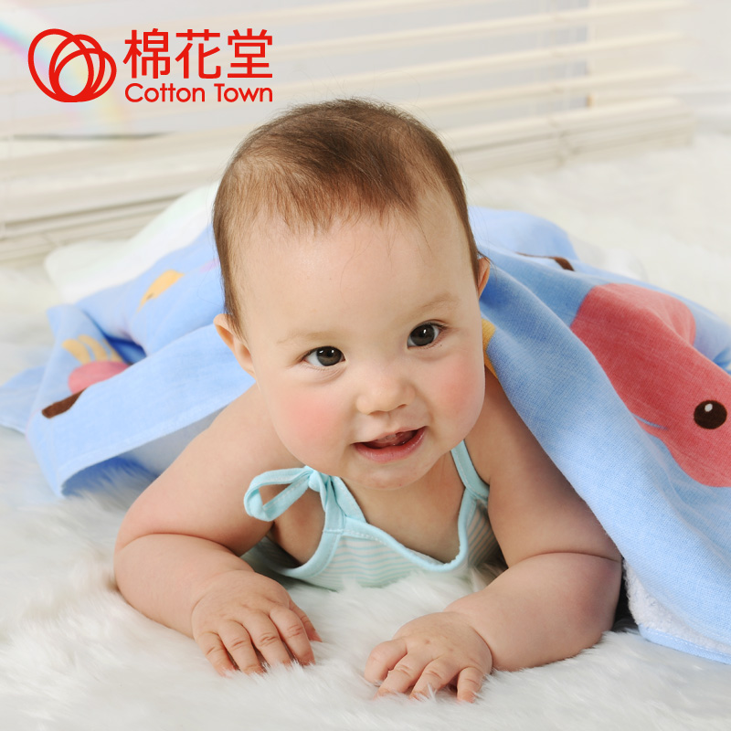 Cotton baby bath towel 100% cotton baby bath towel skin care soft bath towel(China (Mainland))