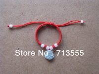 red string bracelets with  red or black exquisit  manmade artcraft