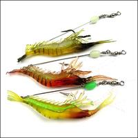 Outdoor sport fishing bionic shrimp lure fishing lure shrimp floptical lizard fish luminous
