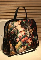 Winter fashion handbag vintage messenger bag oil painting bag romantic flower bag casual women's handbag
