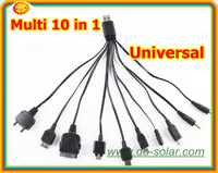 Free shipping --Multi 10 in 1 Universal Multi-Function Cell Phone Game USB Charging Cable Charger line