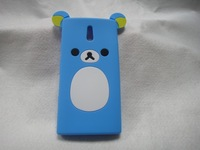Hotsale Cute Easily bear Phone Case for Sony Xperia P LT22i,High Quality Cell Phone Case Silicone