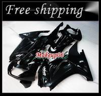 Customized fairing -Black Fairing kit KAWASAKI Ninja 250R EX 250 2008 2009 2010 2011 EX250 08 09 10 11 Free windscreen