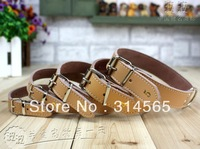 Wholesale Large Dog Leather Collar Pet Accessory Belt Width 2.6cm-3.3cm