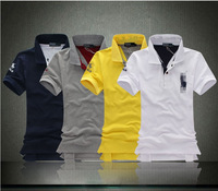 Men's pure color T-shirt with short sleeves fashion leisure male clothing