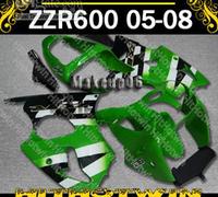 Customized fairing -Green gary white KAWASAKI ZZR600 05-08 ZZR 600 2005-2008 05- 08 2005 2006 2007 2008 Full fairing RX1
