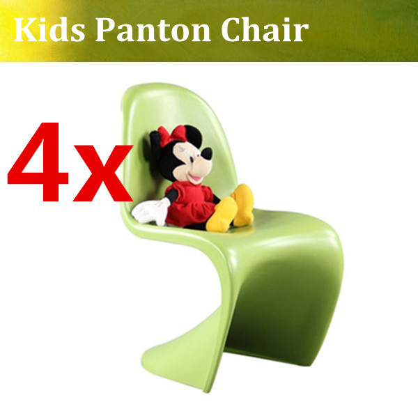 Free Shipping Funny Kids Panton Chair,fiberlgass panton chair ,modern verner panton kids plastic stacking chairs(China (Mainland))