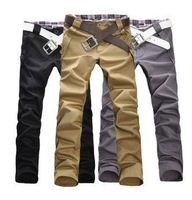 New style high quality Fashion Men's Stylish Designed Straight Slim Fit Trousers Casual Long Pants Four Size:M/L/XL/XXL