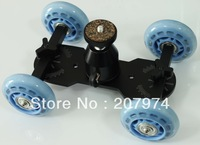 DSLR Video Camera Truck Skater Wheel Table Top Compact Dolly Kit for 5D II 7D