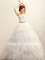 Free     shipping    Han edition feathers new high-end wedding dress. HS16