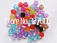 New Arrival 12MM Mixed Color Randomly Acrylic Faceted Beads 540pcs/lot Transparent Round Bicone Chunky Acrylic Beads!!