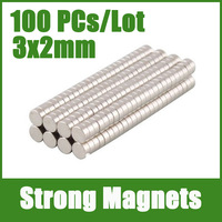 NEW 100Pcs 3mm x 2mm Strong Magnets N35 Craft Models Disc Rare Earth Neodymium