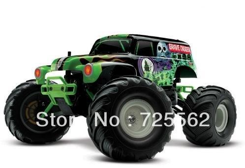 Hot Sale!!! Traxxas Grave Digger 1/16 2WD Monster Truck w/ Backpack TRA7202A(China (Mainland))