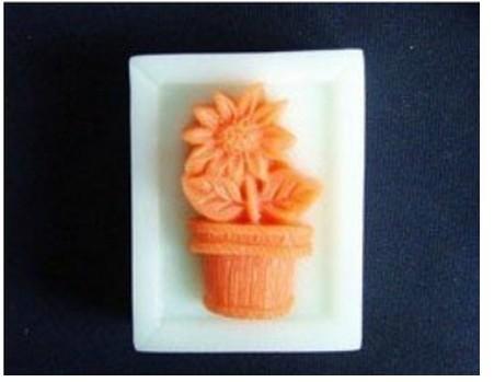 Grátis frete 3D suave Silicon resina sabão moldes vaso de flor de molde para bolinho comida vela doce Jelly bolo de sabão artesanal cortador(China (Mainland))