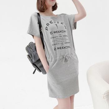 2013 summer o-neck asymmetrical shoulder width sports women's one-piece dress af356