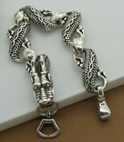 Hot.8 inch.Wholesale 925 silver bracelets.Free Shipping 925 silver bracelet 925 silver fashion jewelry Dragon Bracelet