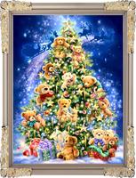 free shipping DMC cross stitch kit - wallmap flower series hae yx-0146 christmas Christmas tree