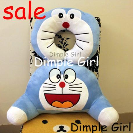 1pc novelty item creative gift blue anime plush toy doll doraemon neck support pillow pregnancy lumbar waist car cushion kawaii(China (Mainland))
