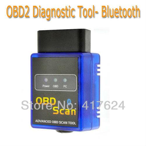 New Mini Bluetooth ELM/327 OBD-II ODB OBD2 Auto scan tool Scanner code reader, free shipping(China (Mainland))