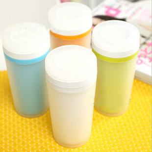 High quality fashion scrub double layer plastic student cup vacuum cup portable cup office cup(China (Mainland))
