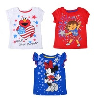 Sale  brand children girsl cute  design summer  t-shirt childrens short sleeve  shirts children clothing  free shipping