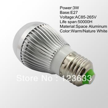 4pcs/lot 3W E27 LED Globe Lights LED Bubble lamp Ball Bulb Lamp AC85-265V Universal Voltage Warm white Lighting