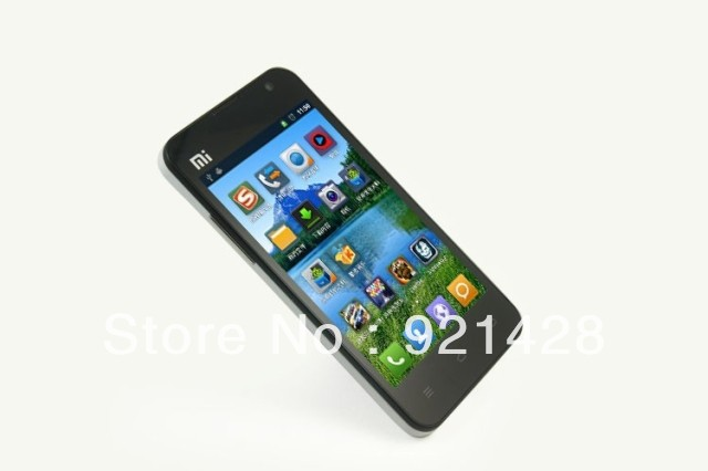 MIUI4.0 Android 4.1 4.3 inch Mi2 intelligent mobile phone Two battery Send A rear cover A protective shell The reader(China (Mainland))