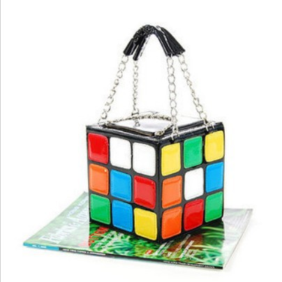 lovely ladies handbags new fun colorful magic cube channel bag is school organizer the embroidry wholle black red wedding dress(China (Mainland))