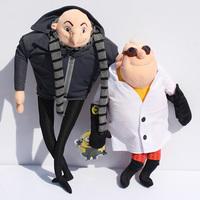 """2Pcs  Despicable Me Plush Toy 15"""" Gru & 13"""" Doctor Nefario Collectible Doll Rare"""
