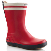 Red rain boots fashion knee-high rubber overstrung plus size male Women rainboots lovers shoes rain shoes