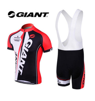 Free shiping new 2013 GIANT cycling wear summer Breathable quick-Dry cycling clothing short jerseys+bib shorts red